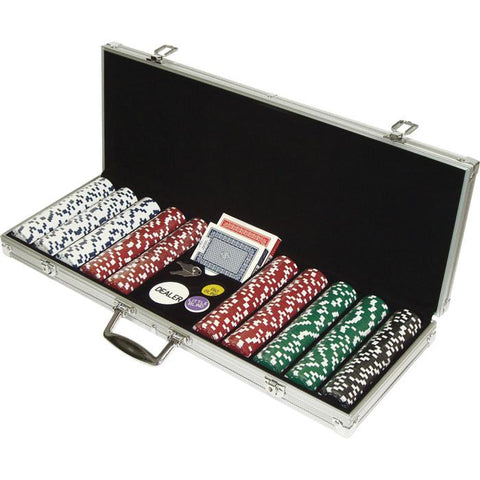 Trademark Commerce 10-1090-500SQL 500 Dice Style 11.5G Poker Chip Set - Retail Ready! - Peazz.com