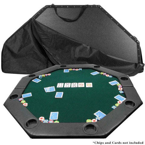 Trademark Commerce 10-11652 52 X 52 Inch Octagon Padded Poker Tabletop Green - Peazz.com