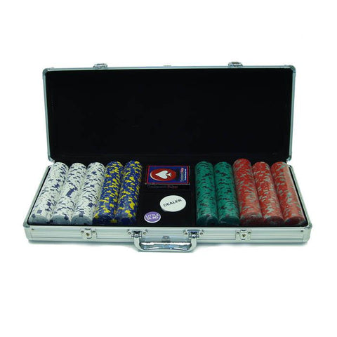 Trademark Commerce 10-1500-5001s 500 13 Gm Pro Clay Casino Chips W/ Aluminum Case - Peazz.com