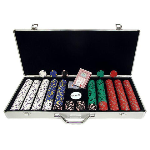 Trademark Commerce 10-1500-650sdx 650 13 Gm Pro Clay Casino Chips W/ Aluminum Case - Peazz.com