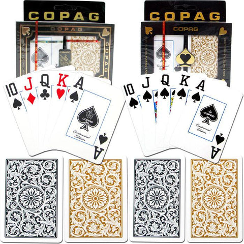 "Trademark Commerce 10-1546-2 Copaga""C Poker & Bridge Jumbo Index - 1546 Black/Gold Set Of - Peazz.com"