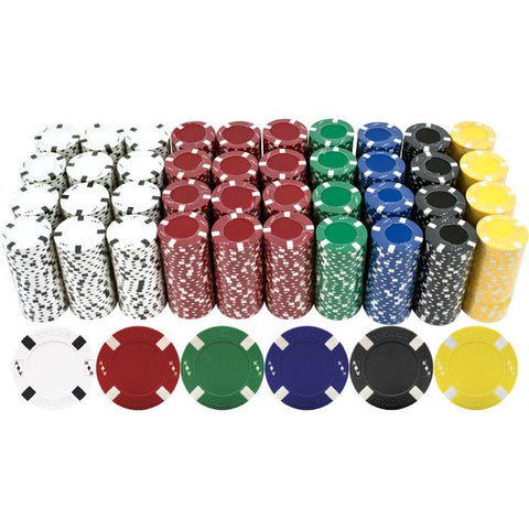 Trademark Commerce 10-1700-1000 1000 Big Slick Texas Hold'Em Poker Chips - Peazz.com