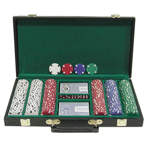 Trademark Commerce 10-1700-300d 300 Chip Texas Hold'Em Set W/Deluxe Case - Peazz.com