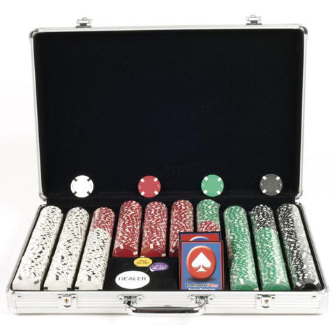 Trademark Commerce 10-1700-650sdx 650 Chip Texas Hold'Em Set W/ Aluminum Case - Peazz.com