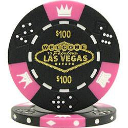 Trademark Poker 10-19Lv Fabulous Las Vegas Tri-Color Triple Crown 11.5G Poker Chips - Peazz.com