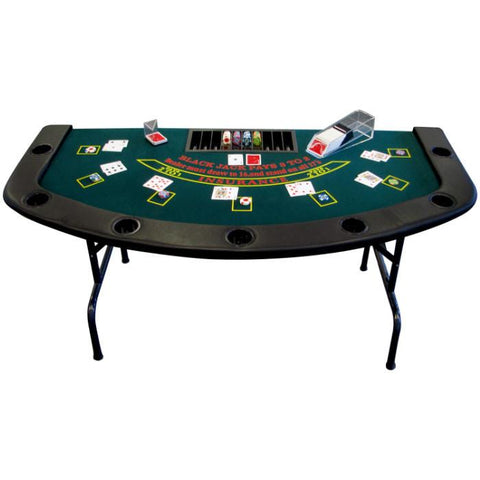 Trademark Commerce 10-21FOLD 6' x 3' foot Full Size Folding Blackjack Table - Peazz.com