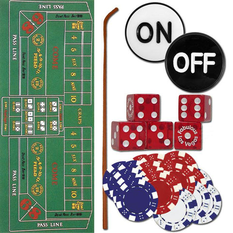Trademark Commerce 10-3020-SET Craps Set - All The Pieces To Play Now! - Peazz.com