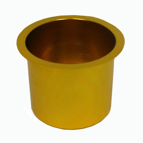 Trademark Poker 10-48201Gold Jumbo Aluminum Gold Poker Table Cup Holder - Peazz.com