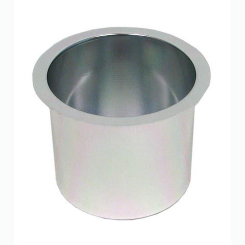 Trademark Poker 10-48201Silv Jumbo Aluminum Silver Poker Table Cup Holder - Peazz.com