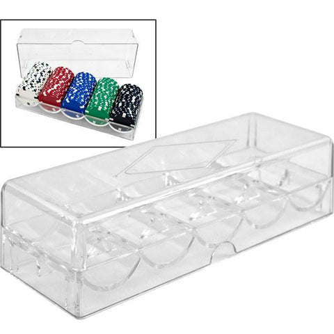 Trademark Poker 10-5030Set Clear Acrylic Chip Tray & Cover - Peazz.com
