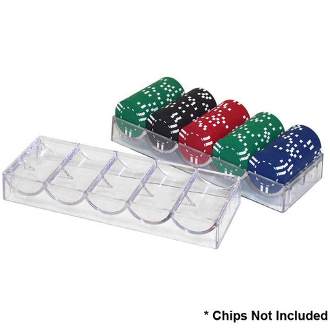 Trademark Poker 10-5030Tray Clear Acrylic Chip Rack/Tray (To Be Used With Cover) - Peazz.com