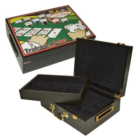 Trademark Commerce 10-52001 500 Chip Poker Case With Full Color High Quality Graphics - Peazz.com