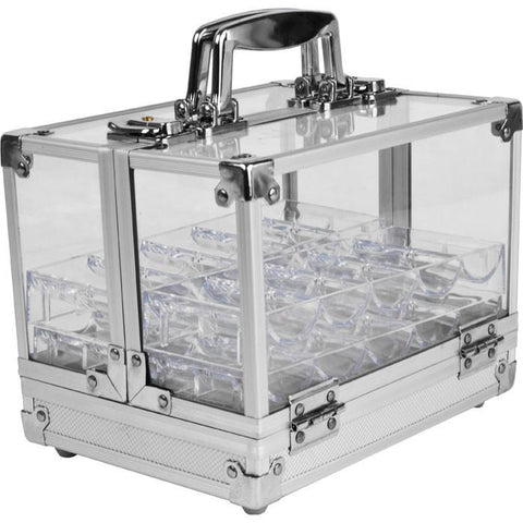 Trademark Poker 10-6Clset Trademark Pokert 600 Chip Capacity Acrylic Case W/ 6 Trays - Peazz.com
