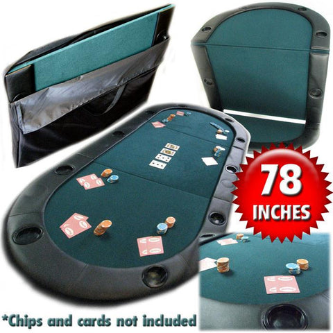 Trademark Commerce 10-7936C Texas Holdem Poker Folding Tabletop With Cupholders - Peazz.com