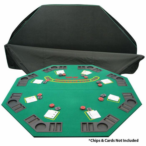 Trademark Commerce 10-8221T Solid Wood 2 Fold Poker/Blackjack Tabletop - Single Sided - Peazz.com
