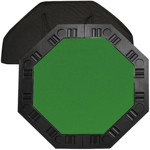 Trademark Commerce 10-8250-GRN 8 Player Octagonal Table Top - Green - 48 Inch - Peazz.com