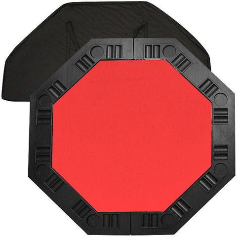 Trademark Commerce 10-8250-RED 8 Player Octagonal Table Top - Red - 48 Inch - Peazz.com