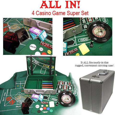 Trademark Commerce 10-ALLINONE 370 Piece All In- The 4 Casino Game Super Set - Peazz.com