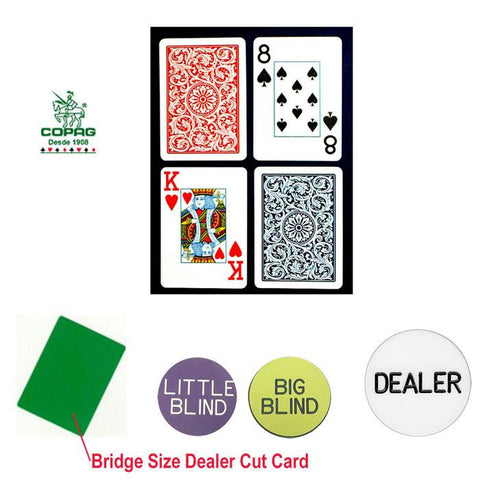 Trademark Commerce 10-b5973j-Kit Copag Bridge Size Plastic Playing Cards & Dealer Kit - Peazz.com