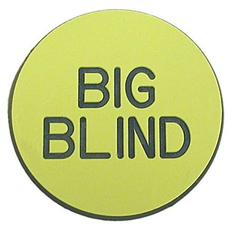 Trademark Poker 10-Bgblnd Big Blind Button For Poker Game - Peazz.com