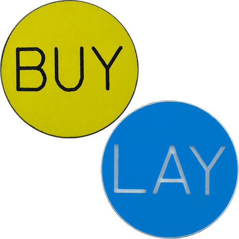 10-Buylay Buy / Lay Chip Button For Craps - Peazz.com