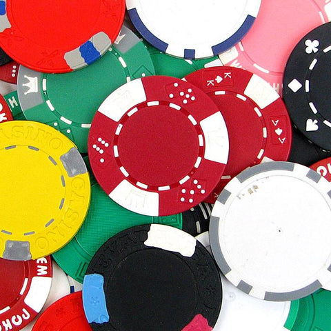 Trademark Poker 10-Chips Assorted Poker Chips With Imperfections - Peazz.com
