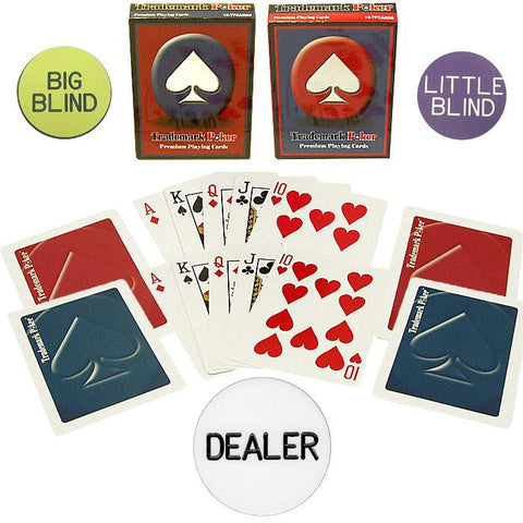 Trademark Poker 10-Dealerkit Poker Chip Set Accessories - Peazz.com