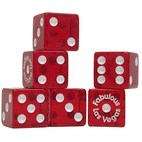 Trademark Poker 10-Dice-5 Fabulous Las Vegas Dice - 5 Piece Dice Package - Peazz.com