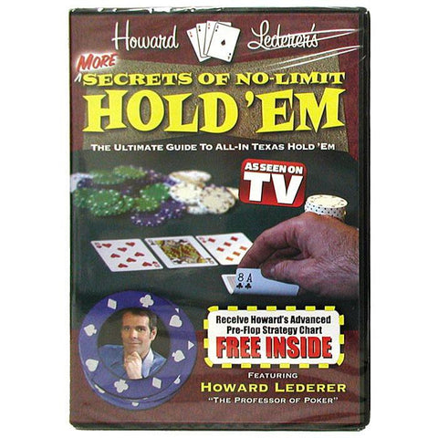 10-Hldvdmore Dvd - More Secrets Of No-Limit Hold'Em With Howard Lederer - Peazz.com