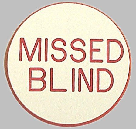 Trademark Poker 10-Mblind Missed Blind Button For Poker Game - Peazz.com