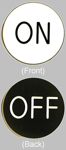 10-Onoff On / Off Chip Button For Craps - Peazz.com