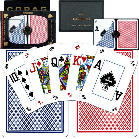 Trademark Commerce 10-P4507P Copag Poker Size Peek Index - Blue*Red Setup - Peazz.com