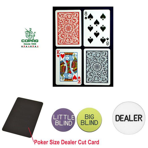 "Trademark Commerce 10-P6031R-Kit Copaga""C Poker Size Plastic Playing Cards & Dealer Kit - Peazz.com"
