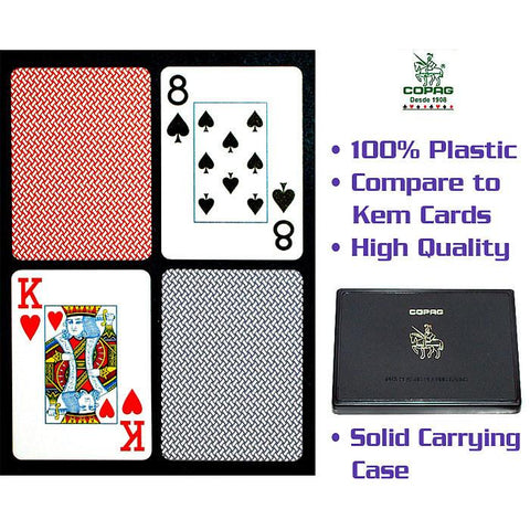 Trademark Commerce 10-P6116J Copag Poker Size Jumbo Index - Blue*Red Export Setup - Peazz.com