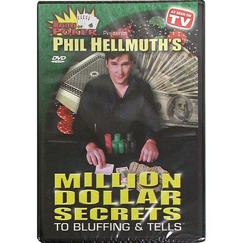 10-Phbluf Dvd - Phil Hellmuth'S Million $$ Secrets To Bluffing & Tells - Peazz.com