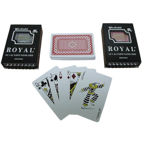 Trademark Poker 10-Plastic1 Two Decks- Royal 100% Plastic Playing Cards W/ Star Pattern - Peazz.com