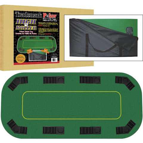 Trademark Commerce 10-TH-4FOLD Texas Hold'Em FULL SIZE Folding Table Top - Peazz.com