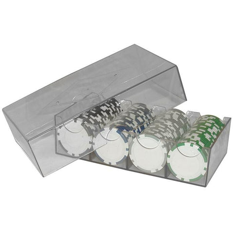 Trademark Poker 1143849 Clear Plastic Chip Storage Box - Peazz.com