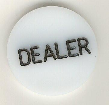"Trademark Poker 1315148 Professional Acrylic Dealer Button - 2"" X 1/4"" - Peazz.com"