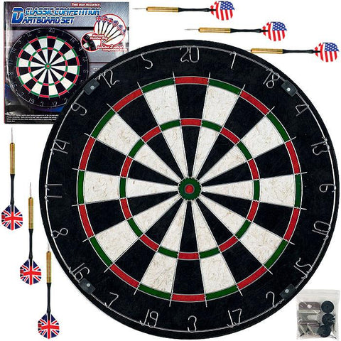 Trademark Commerce 15-2001 TGT Pro Style Bristle Dart Board Set w/ 6 Darts & Board - Peazz.com