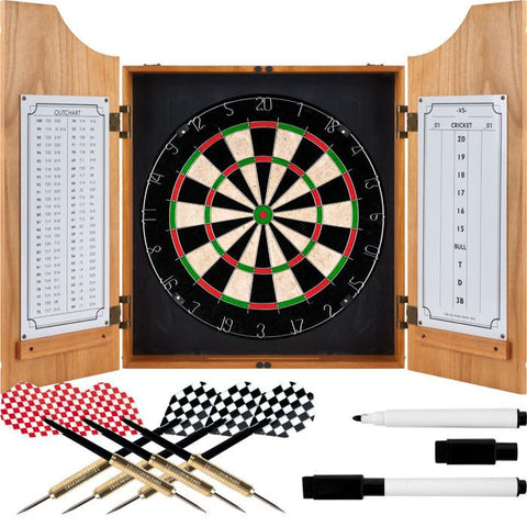 Trademark Commerce 15-91008 TGT Beveled Wood Dart Cabinet - Pro Style Board and Darts - Peazz.com