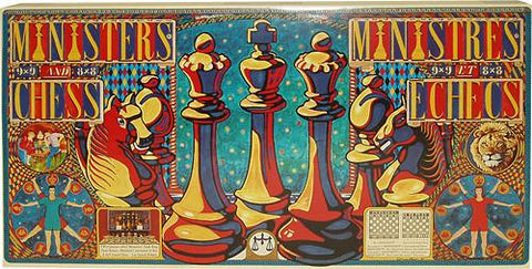 1524129 Ministers Chess Set - Standard Chess With A Twist!! - Peazz.com