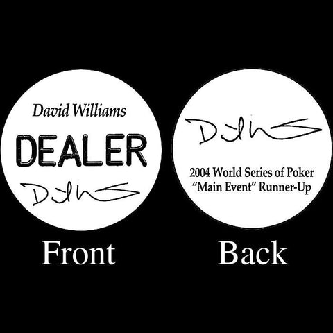Trademark Poker 16-Dw5500 David Williams Professional Collector'S Dealer Button - Peazz.com