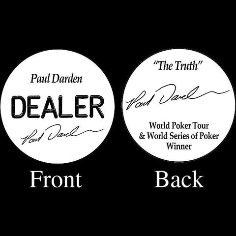 Trademark Poker 16-Pd5500 Paul Darden Professional Collector'S Dealer Button - Peazz.com