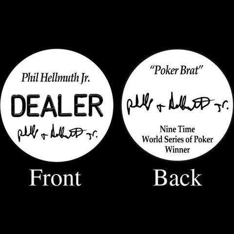 Trademark Poker 16-Ph5500 Phil Hellmuth Jr. Professional Collector'S Dealer Button - Peazz.com