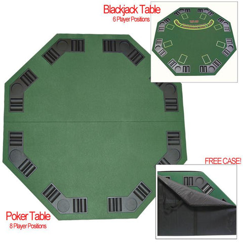 Trademark Poker 2308973 Deluxe Poker & Blackjack Table Top W/ Case - Peazz.com