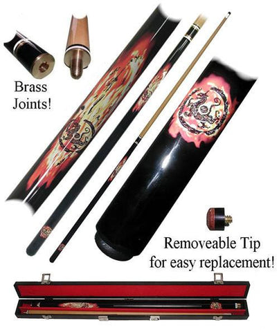 Trademark Commerce 40-615BK DRAGON INFERNO 18 oz. Pool Stick - Peazz.com
