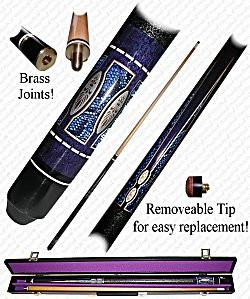 Trademark Commerce 40-625PUR PURPLE MATRIX Designer Pool Stick - Peazz.com