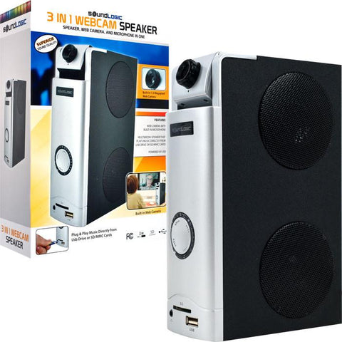 Trademark Commerce 72-31202 3 in 1 Webcam Desktop Speaker -  Great for Skype - Peazz.com