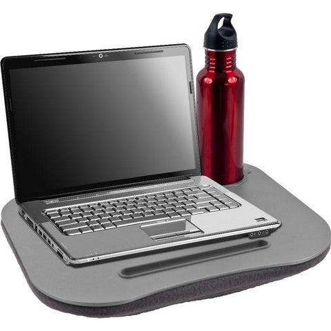 Trademark Commerce 72-698005 Laptop BuddyT Gray Cushion Desk w/ Pen & Cup Holder - Peazz.com
